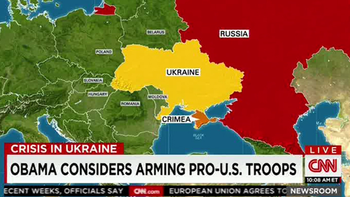 Freudian slip? CNN says Obama considers arming pro-US troops...in Ukraine