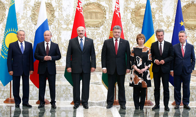 August 26, 2014. Meeting of the presidents of the Customs Union countries with the president of Ukraine and representatives of the European Commission. (RIA Novosti)