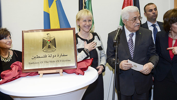 First Palestinian embassy in W. Europe opens in Sweden