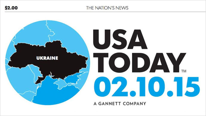Major US newspaper prints map of Ukraine without Crimea