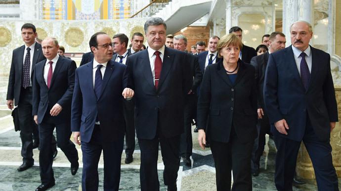 'Normandy 4' Ukraine peace talks in Minsk