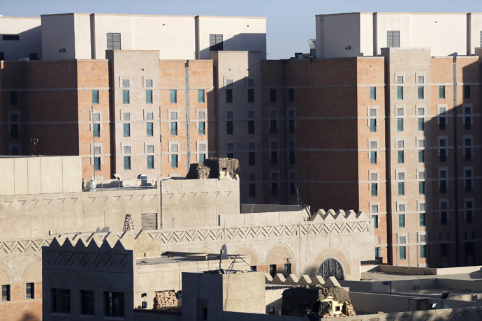 A general view of the U.S. embassy in Sanaa February 11, 2015. (Reuters/Khaled Abdullah)