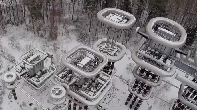 Drone captures Soviet-era 'Tesla Tower' lightning machine (VIDEO)