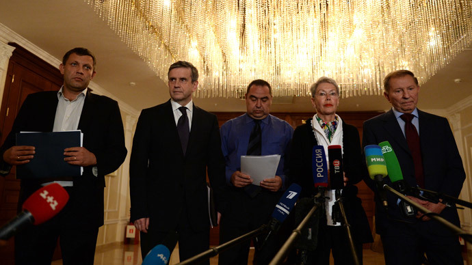 Members of the so-called 'contact group' on Ukraine peace settlement. AFP Photo / Vasily Maximov