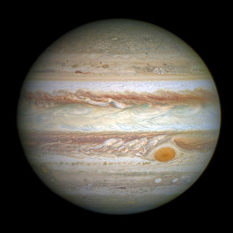 'Great Red Spot' photo taken by the Hubble Space in 2014.(Reuters / NASA)