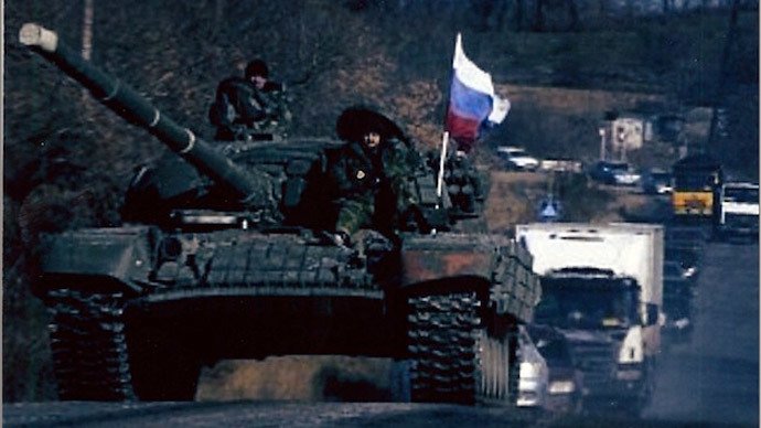 Russian tanks, soldiers / Photo provided by Sen. Inhofe