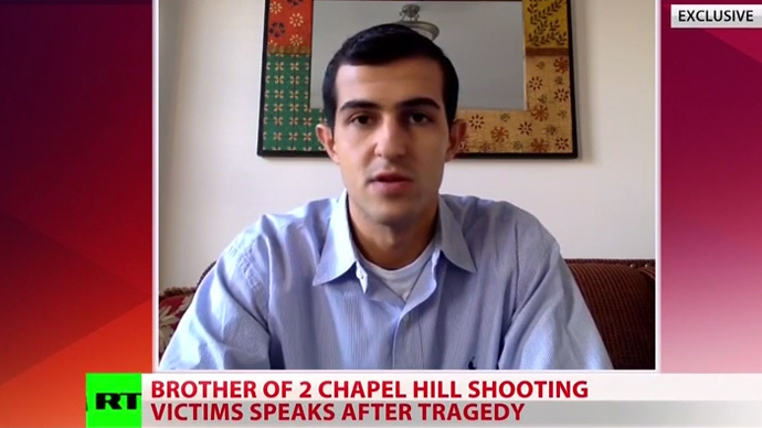 Chapel Hill victims' brother: Shooter had harassed Muslim couple, 'brandished' gun at them