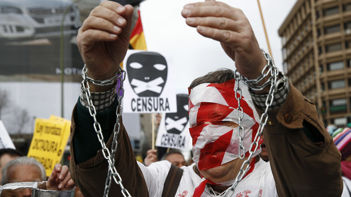 Spaniards take to streets to protest 'draconian' new security laws