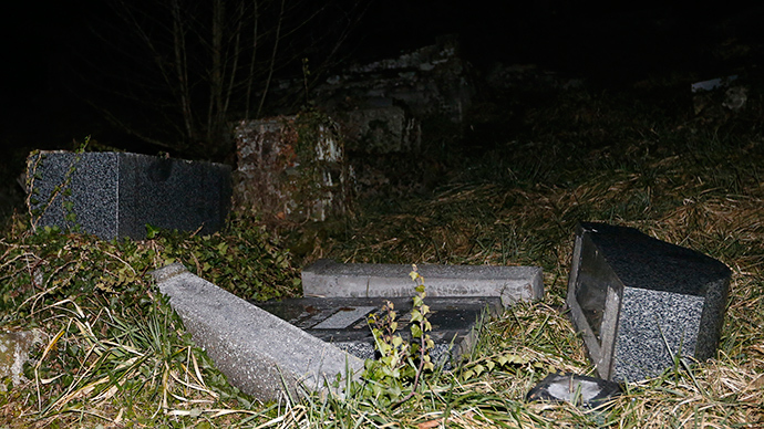 'Despicable act': Hundreds of Jewish tombs defaced in France