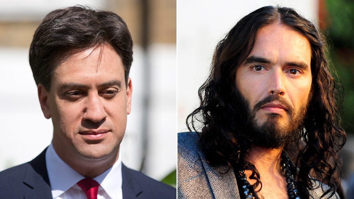 ​'Saying what people are thinking': Miliband defends Russell Brand's 'don't vote' call