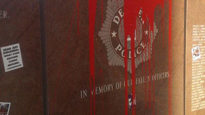 Police anger over desecrated Denver memorial