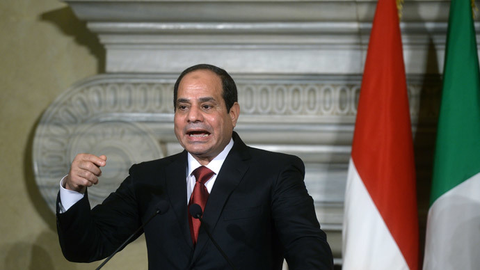 Egypt President Sisi urges UN intl coalition to intervene in Libya