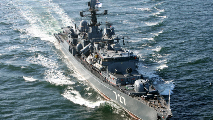 Russian frigate escorted through English Channel by Royal Navy
