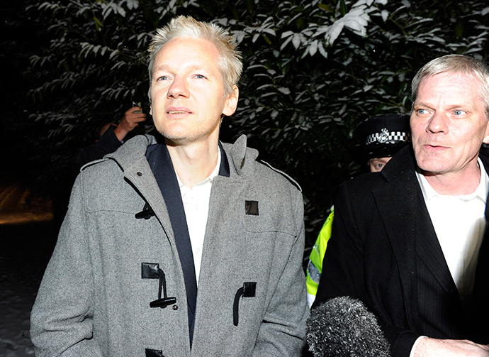 ARCHIVE PHOTO: WikiLeaks founder Julian Assange (L) and WikiLeaks spokesperson Kristinn Hrafnsson in Norfolk, England December 16, 2010. (Reuters / Paul Hackett)