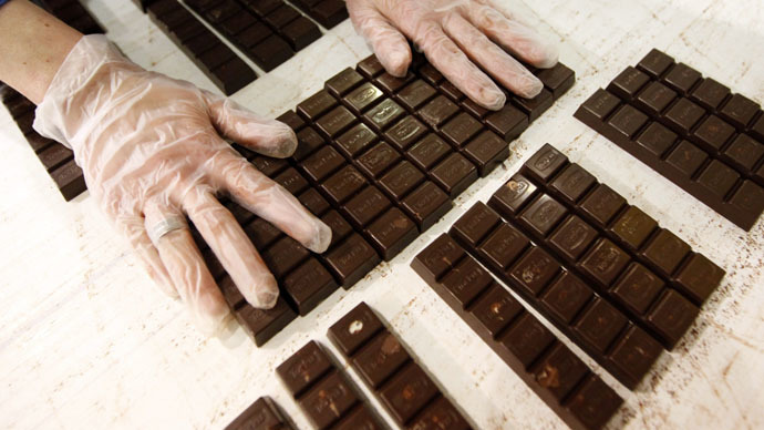 Sweet young thing: Wrinkle-smoothing chocolate to make a splash