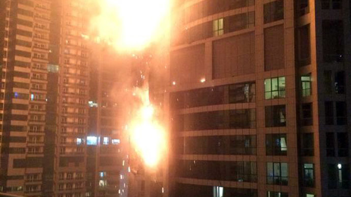 Massive fire engulfs Dubai 'Torch' residential tower (PHOTOS, VIDEO)