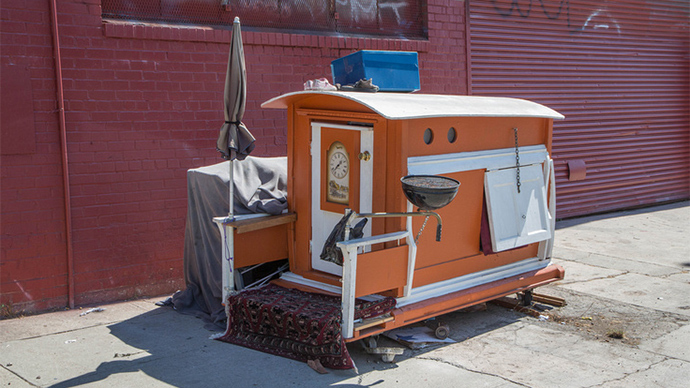 Tiny Houses California Homelessness Gets New 40 Solution PHOTOS RT US News