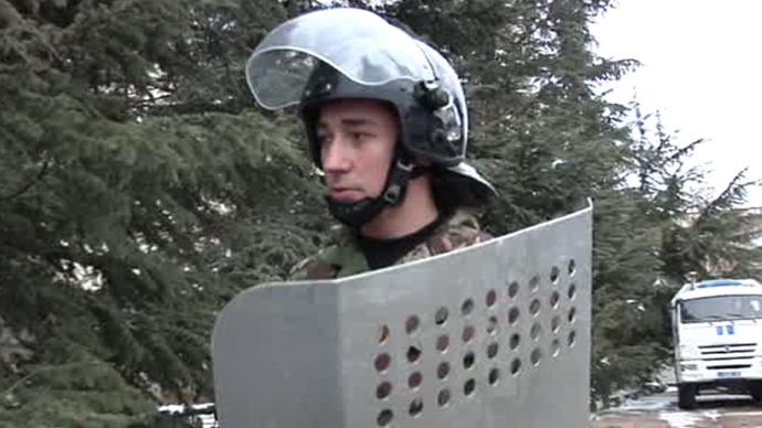 Mikhail, former member of the Crimean Berkut. Screenshot from RT video