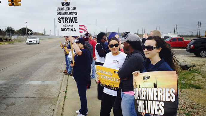 ​Biggest US refinery joins nationwide strike stretching into 4th week (PHOTOS)