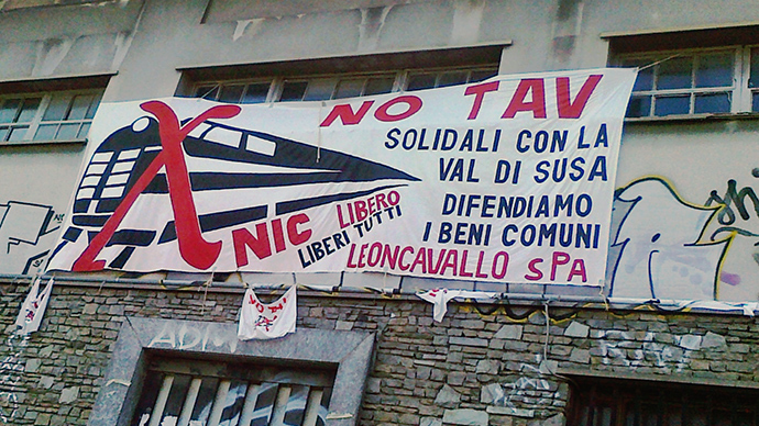 #NoTAV: Thousands of Italians protest high-speed railway construction in Turin