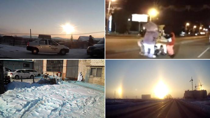 Chelyabinsk mystery zone: Blue snow, three Suns, meteorite explosion (VIDEOS)