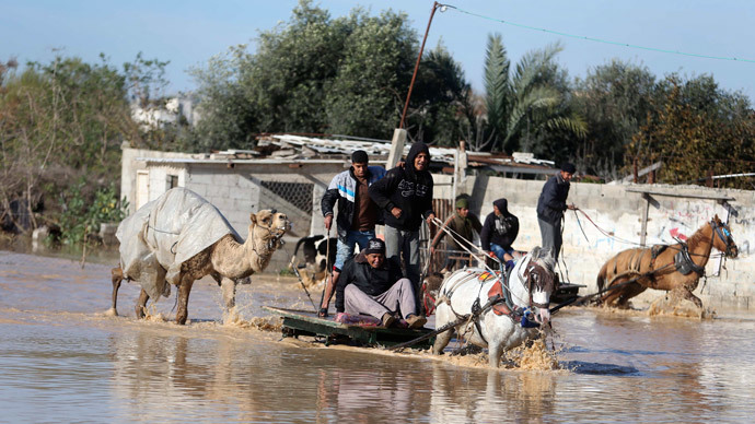 Palestine accuses Israel of opening dams, flooding Gaza, forcing evacuations