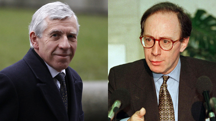 ​'Cash for access' sting: Ex-foreign secretaries Straw and Rifkind suspended, deny wrongdoing
