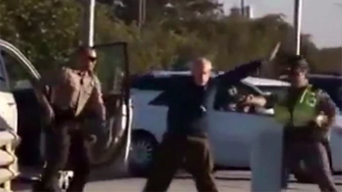 Shocking video shows police tasering elderly man in Florida