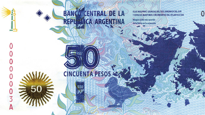Paper claim: Malvinas-Falklands join Argentina... on new banknote