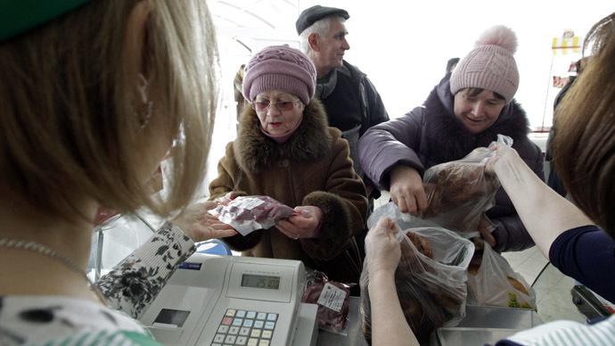 ​Kiev introduces rationing, as falling hryvnia causes shopping binge