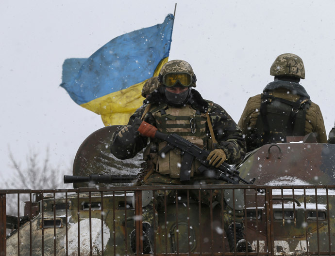 Members of the Ukrainian armed forces. (Reuters/Gleb Garanich)
