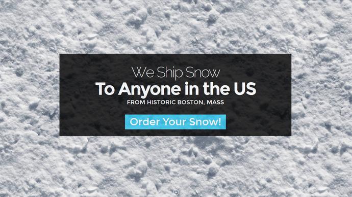 Snow business: Massachusetts man sells bottled blizzard for $19.99