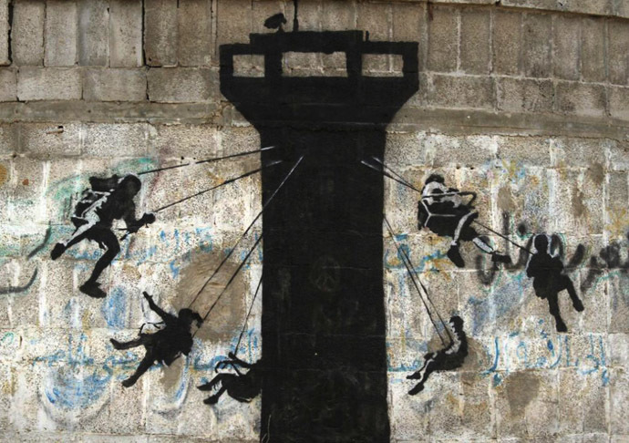 Banksy in Gaza: Haunting images among ruins of war Gz_03aatwt-2
