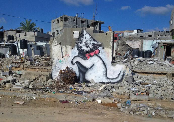 Banksy in Gaza: Haunting images among ruins of war Gz_nc_04-2
