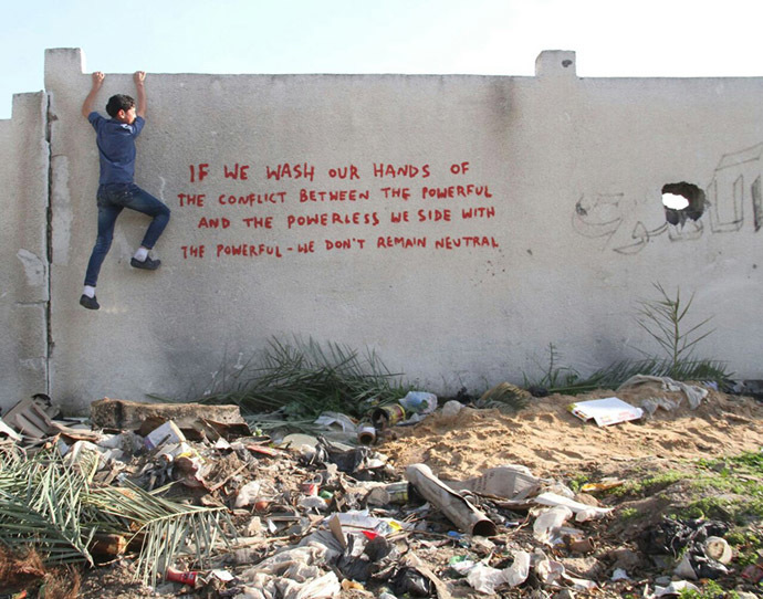 Banksy in Gaza: Haunting images among ruins of war Iwwoh