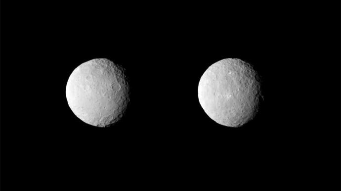 A sonda Dawn da NASA obteve estas imagens uncropped de planeta anão Ceres em 19 de fevereiro de 2015, a uma distância de cerca de 29.000 milhas (46.000 km) (imagem de nasa.gov)