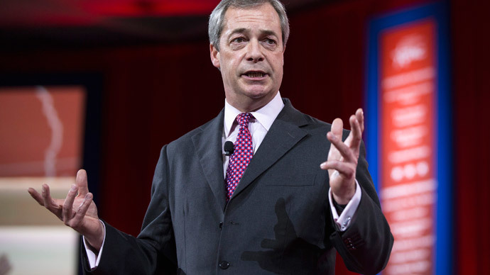 Farage set for Westminster win, as 'Nazi dance troupe' trolls UKIP conference