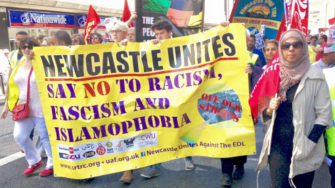 ​'Pegida not welcome here!' Newcastle counter-protest to reject 'twisted prejudice'