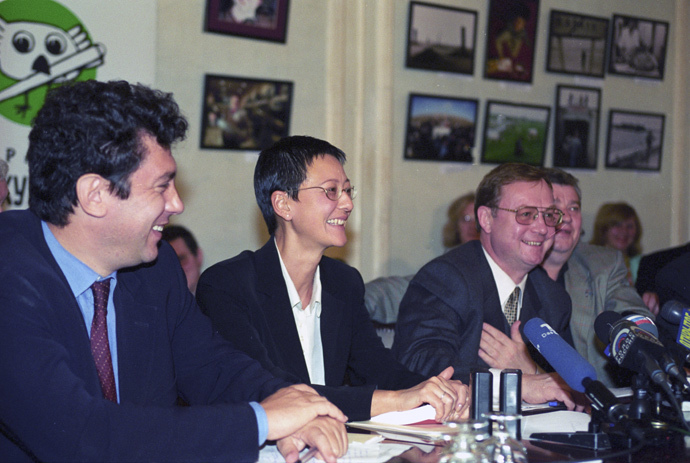 Boris Nemtsov, Irina Khamada, Sergey Stepashin, 1999 (RIA Novosti / Vladimir Fedorenko)