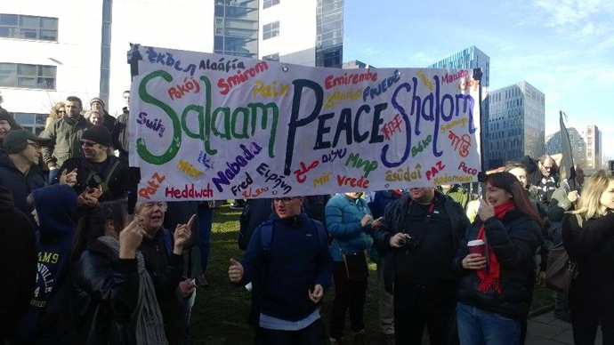 The anti-Pegida counter-demonstration in Newcastle (Photo: Naveed Aslam)