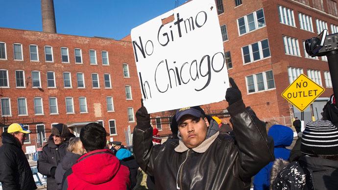 Gitmo2Chicago: Activists demand probe of 'secret interrogation facility' (PHOTOS)