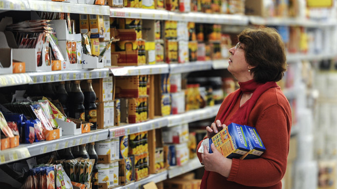 Russian retail food price freeze, as inflation surges