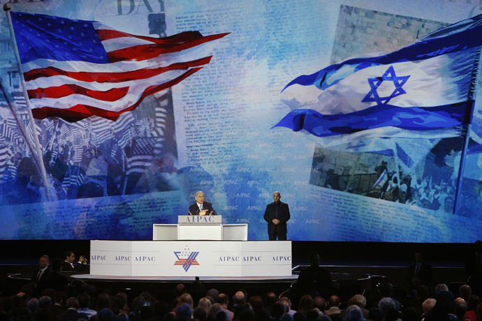 Israel's Prime Minister Benjamin Netanyahu addresses the American Israel Public Affairs Committee (AIPAC) policy conference in Washington, March 2, 2015. (Reuters/Jonathan Ernst)