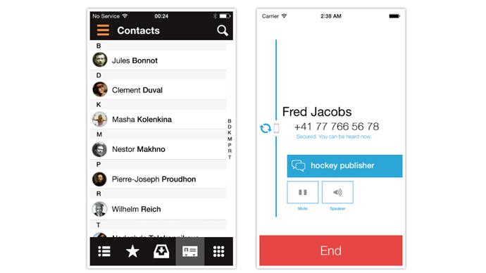 New iOS app encrypts communications between major smart phones