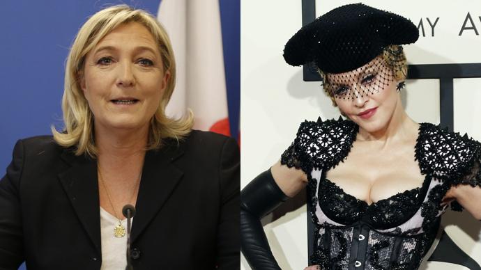 Marine Le Pen accepts Madonna's invitation out