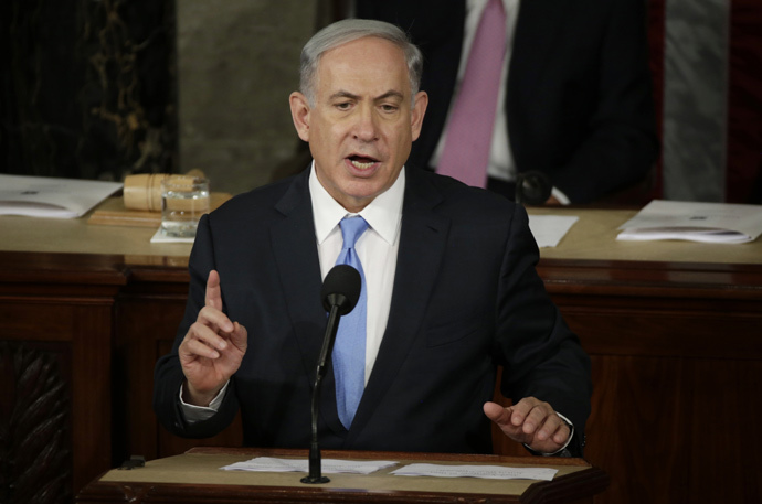 Israeli Prime Minister Benjamin Netanyahu addresses a joint meeting of Congress in the House Chamber on Capitol Hill in Washington, March 3, 2015. (Reuters / Gary Cameron)