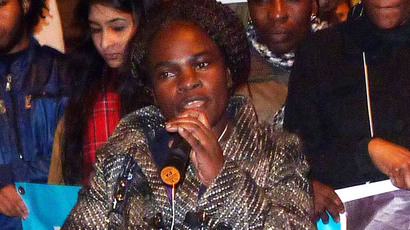 Ms Juliette Nantambi who is a member of All African Women's Group and Queer Strike.(Crossroads Women Centre Audio Visual Collective)