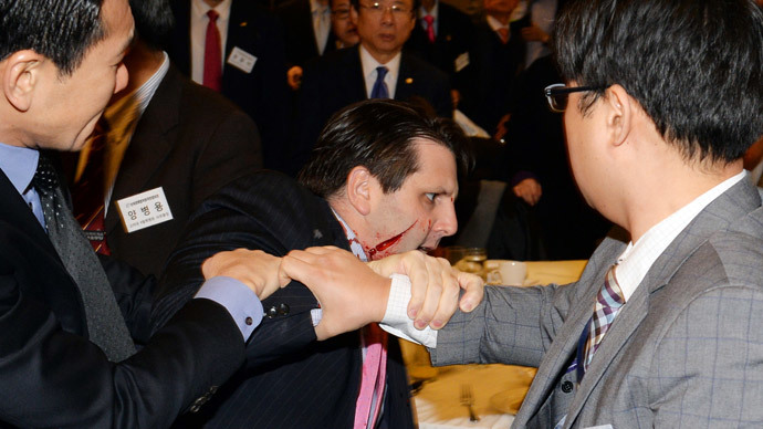 Razor attack on US envoy to S. Korea 'just punishment' for drills – N. Korea