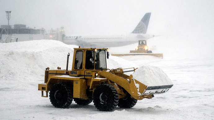 Plane skids off LaGuardia airport runway in heavy snow