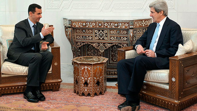 'Military pressure' may be needed to oust Syrian President – John Kerry